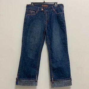 D Jeans Embellished Capri jeans